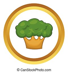 Big green tree vector icon