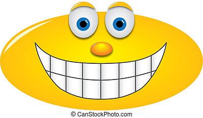 Big grin - Smiley with a big grin, showing teeth
