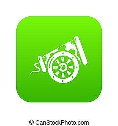 Big gun icon green
