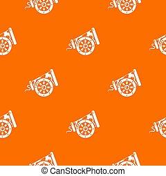Big gun pattern orange