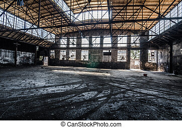 big hall of factory