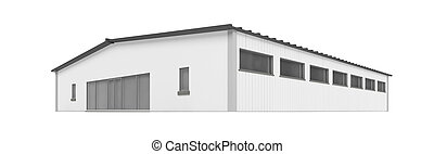 isolated hangar on a white background