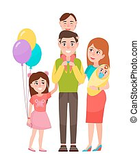 Big Happy Family Icon Vector Illustration