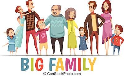 Big Happy Harmonious Family Portrait