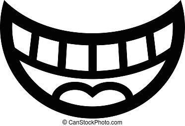 Big Happy Toothy Cartoon Smile