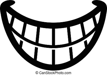 Big Happy Toothy Cartoon Smile vector icon