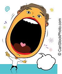 Big Head Surprise - Big head surprise, vector illustration ...