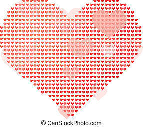 big heart - Vector illustration of big heart made of small...