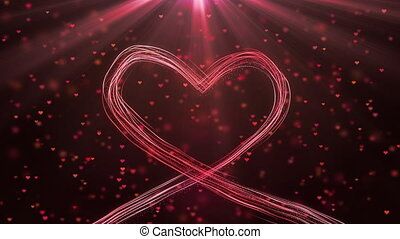 Big heart for Valentines Day, Mothers Day or wedding events background