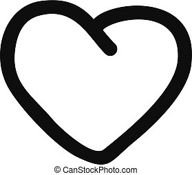 Big heart icon, simple style.