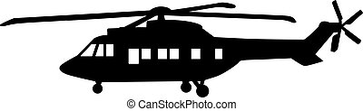 Big Helicopter silhouette