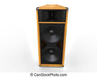 Big hifi speaker - wood finish