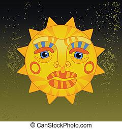 big hot gold sun
