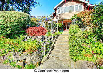 Big house with beautiful curb appeal and entrance gate - Two...