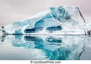 Big iceberg on the lake in Iceland
