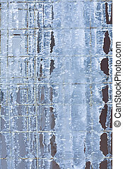 icicles on metal lattice