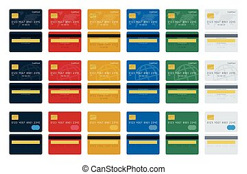 Big icon set of credit cards