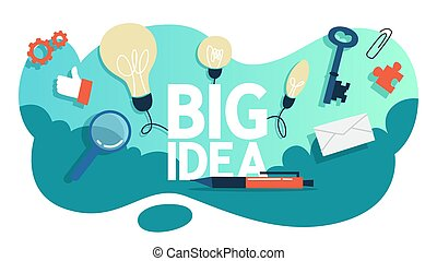 Big idea and creative mind concept illustration