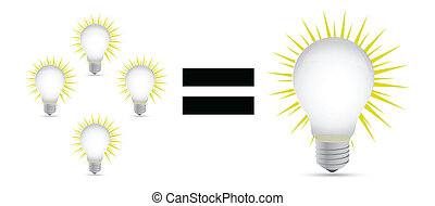 big idea concept illustration design over white background