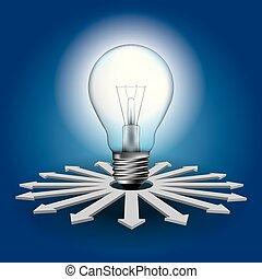 Big idea concept design,Light bulb concept.