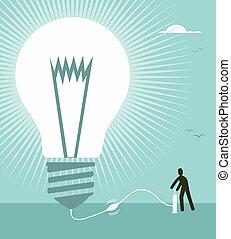 Big idea concept illustration