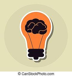 Big idea icon design, vector illustration