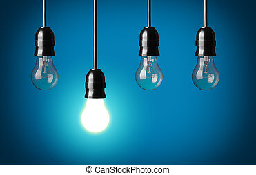 Big idea - Idea concept.Blue background.