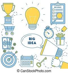 Big idea illustrtion. Working through ideas to get perfect...