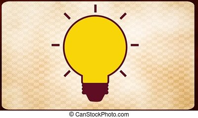 Big Idea over beige background, Video Animation HD1080