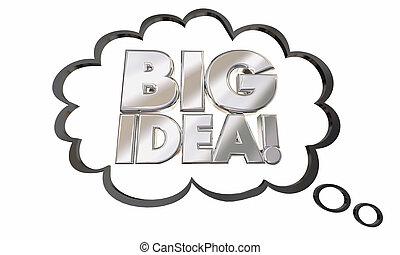 Big Idea Thought Cloud Concept Words 3d Illustration