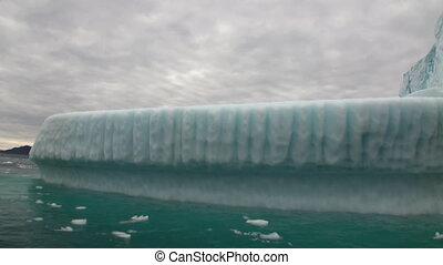 Big Iicebergs floating in sea around  Greenland.