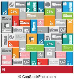 big, infographic, čtverhran, grafické pozadí