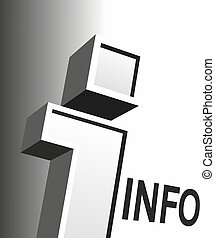 big information sign - big letter as a sign for information