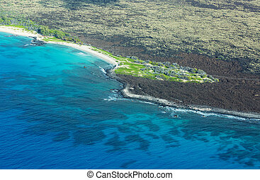 Big island Hawaii from aircraft view