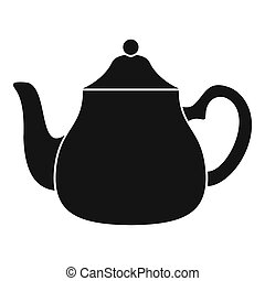 Big kettle icon, simple style