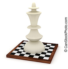 Big king on chessboard - Extremely big king on chessboard