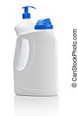 big kitchen cleaning bottles