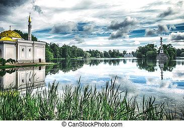 Big Lake in Catherine Park ( Pushkin), St.Petersburg