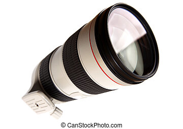 big lens modern for camera with isolated on white