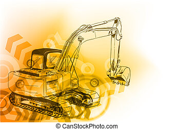 big loader on the abstract background