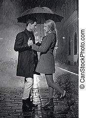 Huge love among the rain drops