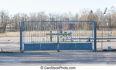 Big metal fence