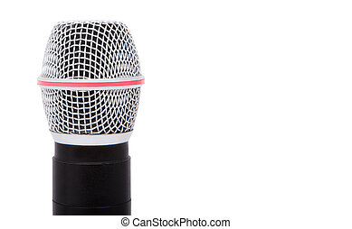 Big microphone isolated on white background.