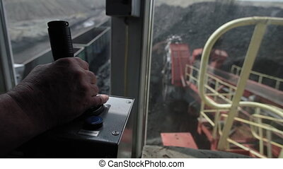 big mining truck load coal (HD)