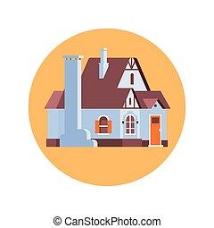 Big Modern House Residence Estate Icon