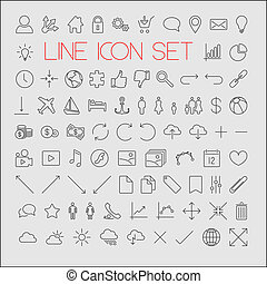 Big modern thin line icon set - Big modern Vector thin line...