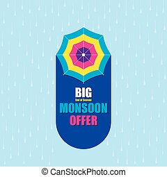 big monsoon offer banner design