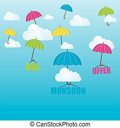 big monsoon offer poster design