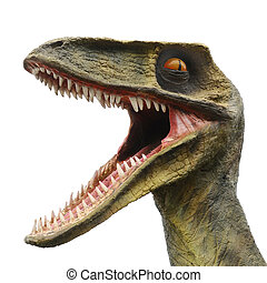 Big Mouthed Monster - Model of a big dinosaur monster with a...