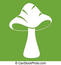 Big mushroom icon green